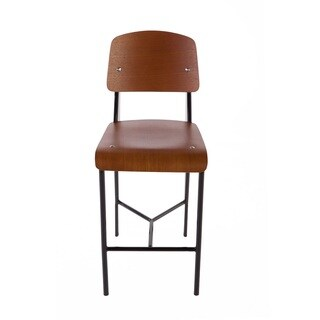 Hans Andersen Home Jean Walnut/Black Wood/Veneer/Metal Counter Stool