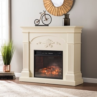 Upton Home Stewart Ivory Infrared Electric Fireplace