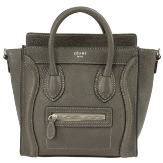 Celine Nano Lugage Leather Tote Bag in Grey