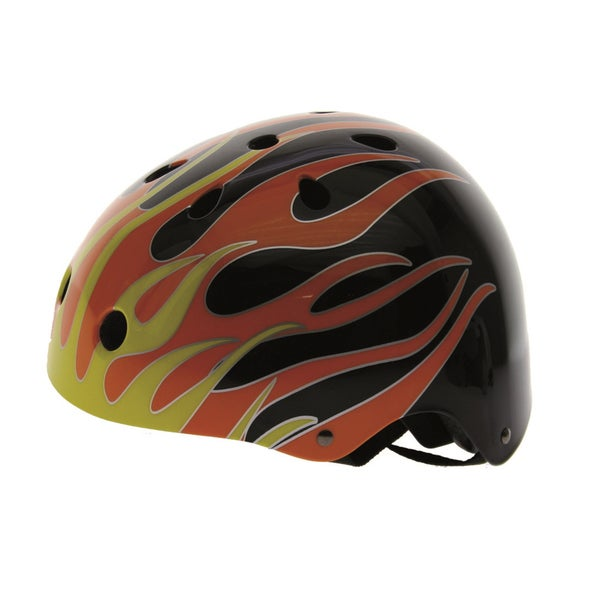 Ventura Black Flames Freestyle Helmet L (58-61 cm)