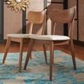 MID-CENTURY LIVING Penelope Danish Modern Tapered-leg Dining Chair (Set of 2)