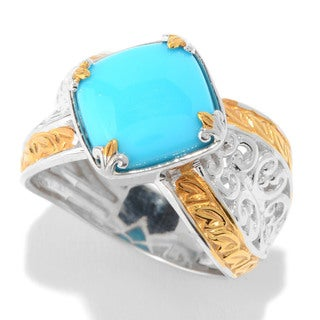 Michael Valitutti Cushion Cabochon Sleeping Beauty Turquoise Ring