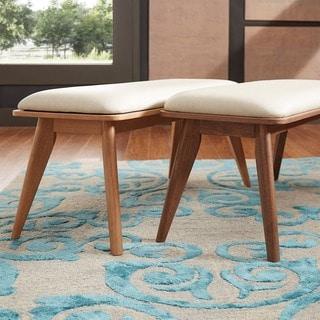 MID-CENTURY LIVING Penelope Danish Modern Upholstered Bench