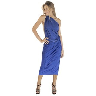 La Leela Women's Blue Rayon 78-inches x 43-inches Swimwear Bikini Skirt Pareo Wrap With Free Sarong Clip