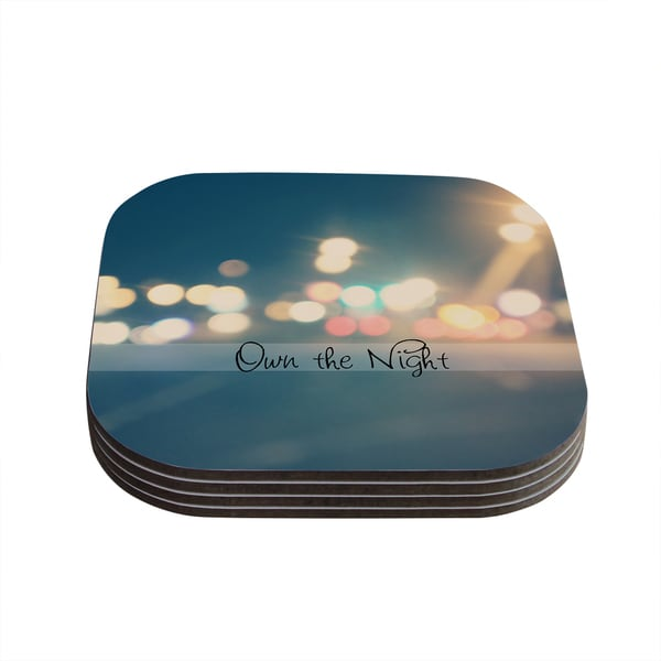 Kess InHouse Beth Engel 'Own The Night' Coasters (Set of 4)