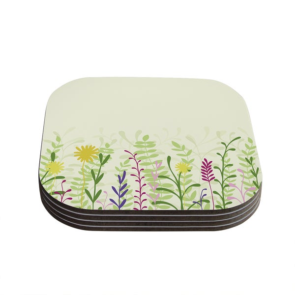 Kess InHouse Emma Frances 'Springtime' Coasters (Set of 4)