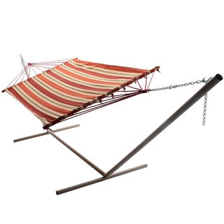 Brown and Red Stripe Single-layer Fabric Hammock