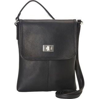 LeDonne Women's Talas Leather Clasp-closure Crossbody Handbag