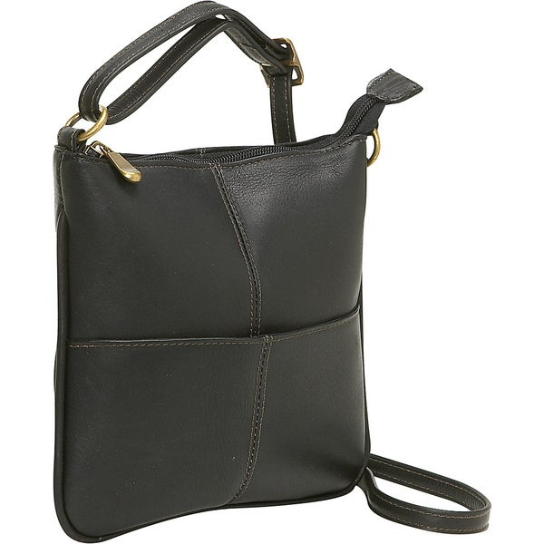 LeDonne Leather Mini Front Pocket Crossbody Handbag