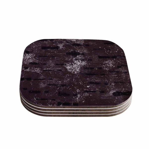 Kess InHouse Iris Lehnhardt 'Tex Mix Lounge' Abstract Purple Coasters (Set of 4)