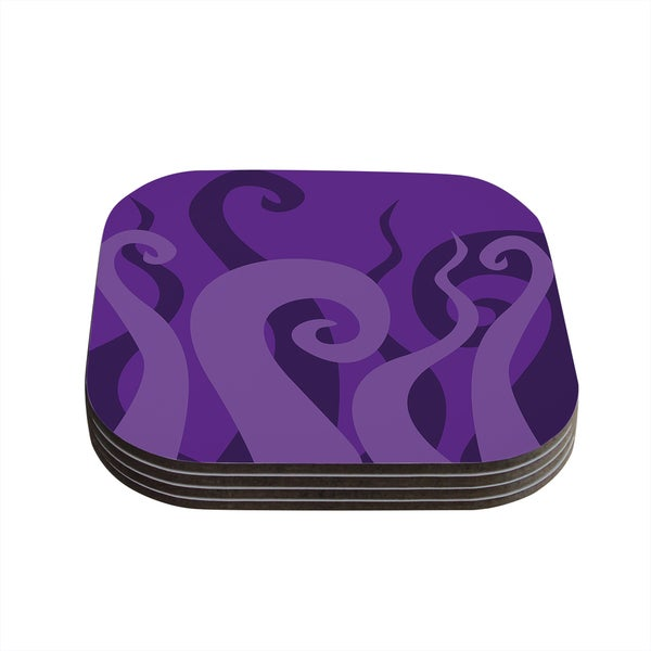 Kess InHouse KESS Original 'Poor Unfortunate Souls - Purple' Coasters (Set of 4)
