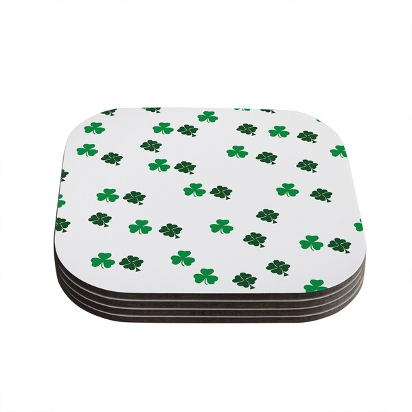 Kess InHouse KESS Original 'Shamrockin' St. Patrick Coasters (Set of 4)