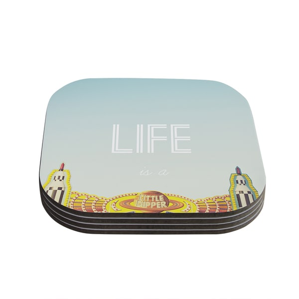 Kess InHouse Libertad Leal 'Life is a Rollercoaster' Coasters (Set of 4)