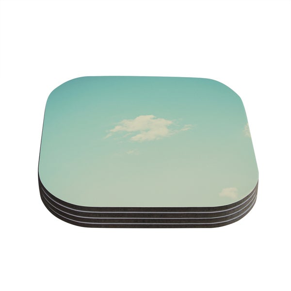 Kess InHouse Libertad Leal 'Cloud 9' Blue Sky Coasters (Set of 4)