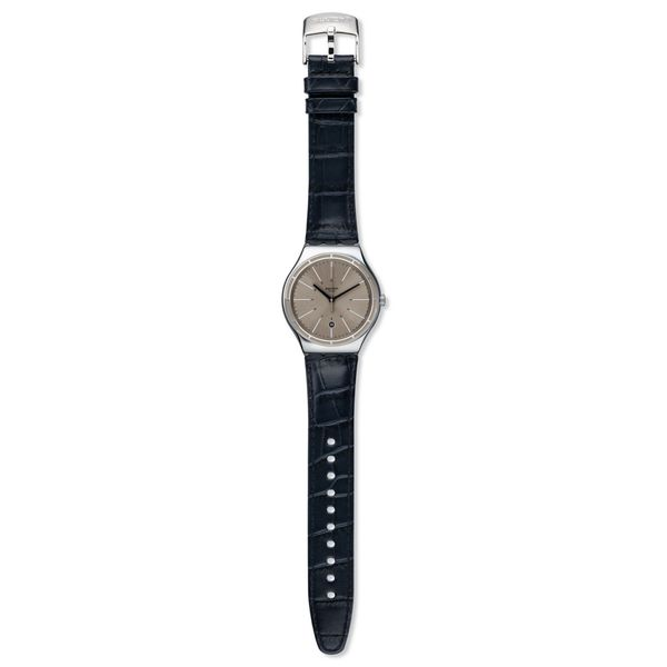 Swatch Men's YWS415 'Irony Eppendorf' Blue Leather Watch 18601939
