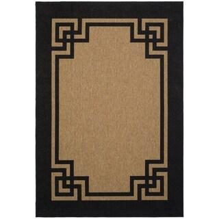 Safavieh Martha Stewart Collection Dark Beige/ Black Rug (2' 7 x 5')