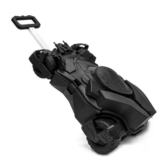 Ridaz Batmobile Kids Black ABS Plastic 21-inch Carry On Rolling Suitcase