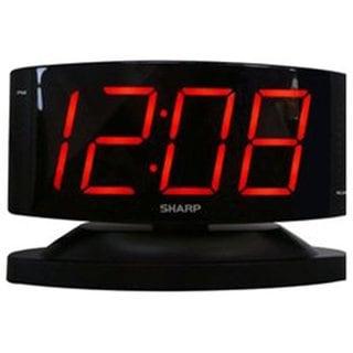 Sharp Red LED Black 1.8-inch Digital Display Swivel Alarm Clock