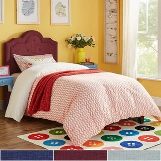 IQ KIDS Harper Tufted High-arching Linen Upholstered TWIN-size Upholstered Bed