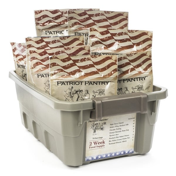 Patriot Pantry 2-week 70-serving Emergency Food Supply