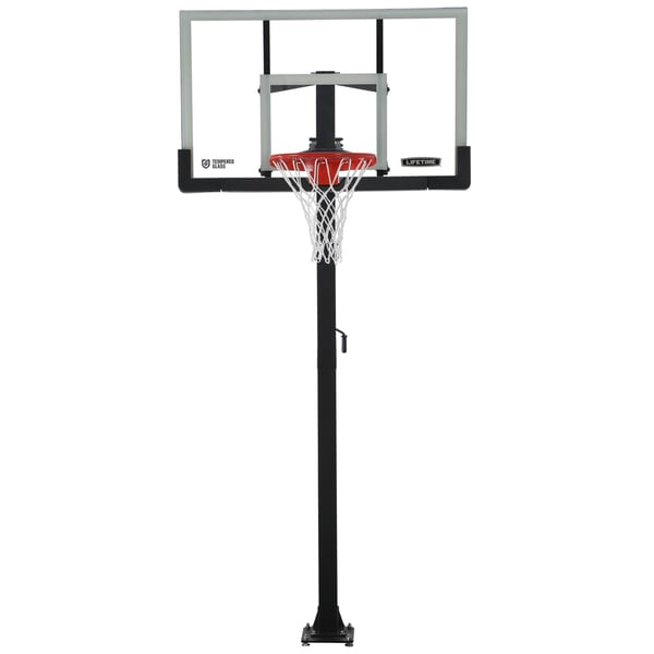 54-inch Crank Adjustable Standing Basketball Hoop