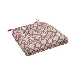 Madison Park Crystal Coral Printed Fretwork 3M Scotchgard Outdoor Cushion