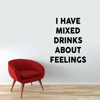 I Have Mixed Drinks Wall Decal (38-inch wide x 48-inch tall)