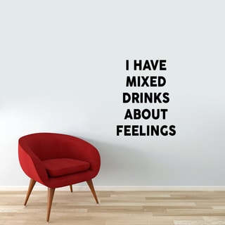 I have Mixed Drinks Wall Decal (28-inch wide x 36-inch tall)