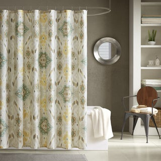 INK+IVY Nia Seafoam 100% Cotton Shower Curtain