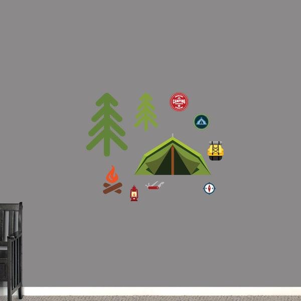 Camping Set Printed Wall Decals
