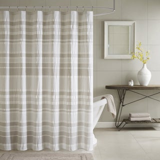 INK+IVY Lakeside Grey 100% Cotton Shower Curtain