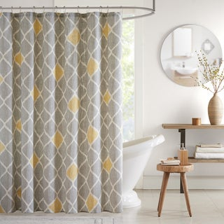 INK+IVY Nile Cotton Printed Shower Curtain 2-color option
