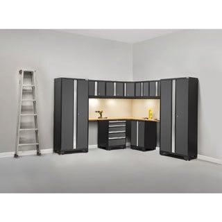 NewAge Bold Series 12-piece Bamboo Topped Corner Cabinet Set