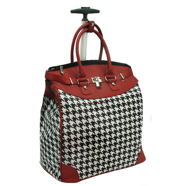 Rollies Classic Houndstooth 14 Inch Rolling Laptop Travel