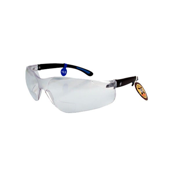 FastCap CatEyes Clear Plastic Anti-fog Anti-static Coated Safety Glasses with 2.0 Diopters Magnification