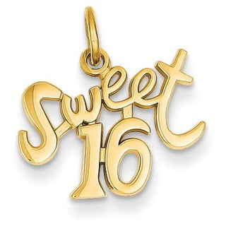 14k Yellow Gold Sweet 16 Charm