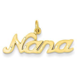 14k Yellow or White Gold Nana Charm