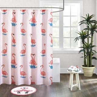 HipStyle Rosie Pink Cotton Printed Shower Curtain