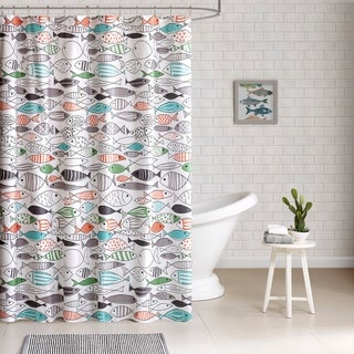 HipStyle Madfish Cotton Shower Curtain