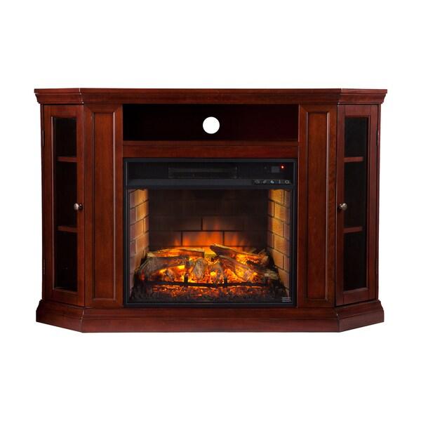 Harper Blvd Clement Cherry Convertible Media Infrared Fireplace 18605293
