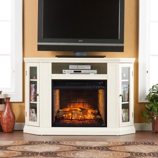 Upton Home Clement Ivory Convertible Media Infrared Fireplace