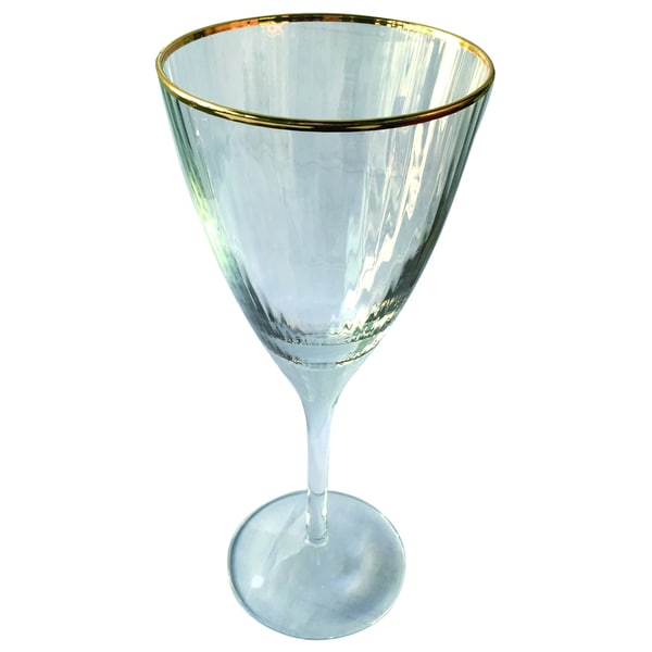 Gold-rim Optic White Wine Glass (Purchase Minimum of 4)