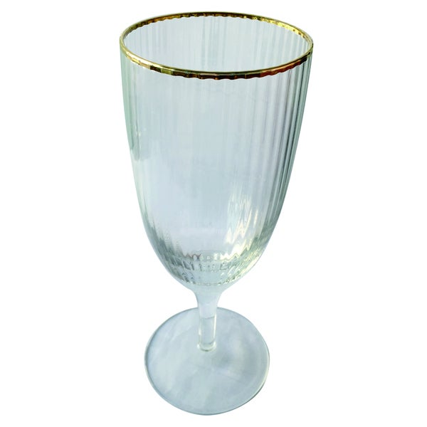 Gold-rim Optic Goblet (Purchase Minimum of 4)