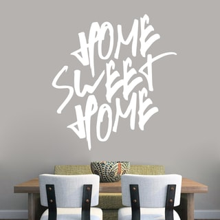 Home Sweet Home Wall Decal (44-inch wide x 48-inch tall)
