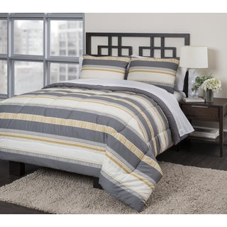 Neutral Stripe 3-piece Duvet Set
