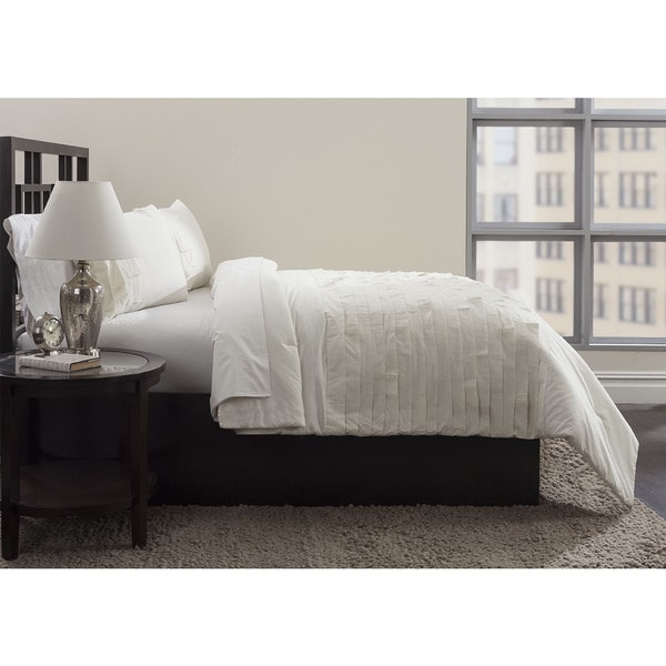 Horizontal Pleating 3-piece Duvet Set