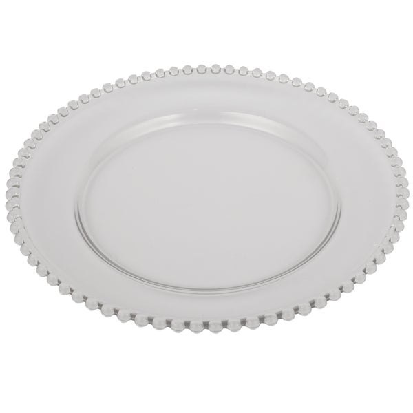 13-inch Beaded Rim Glass Charger 18606204