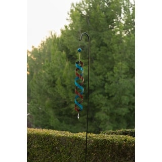 Red and Blue Metal 40-inch Swirl Decor