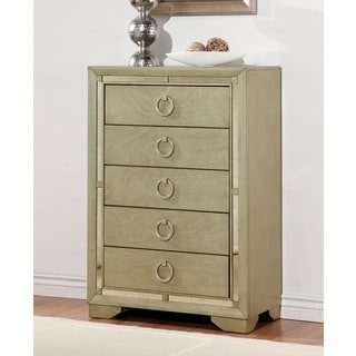 Abbyson Living Valentino Mirrored 5-drawer Chest