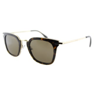 Celine CL 41402 ANT Dark Havana Gold Plastic Square Brown Lens Sunglasses